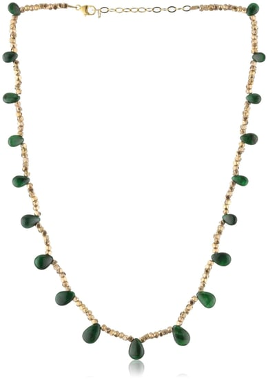 Amanda Rudey Divas and Heroines Emerald Zeena Necklace - designer shoes, handbags, jewelry, watches, and fashion accessories | e