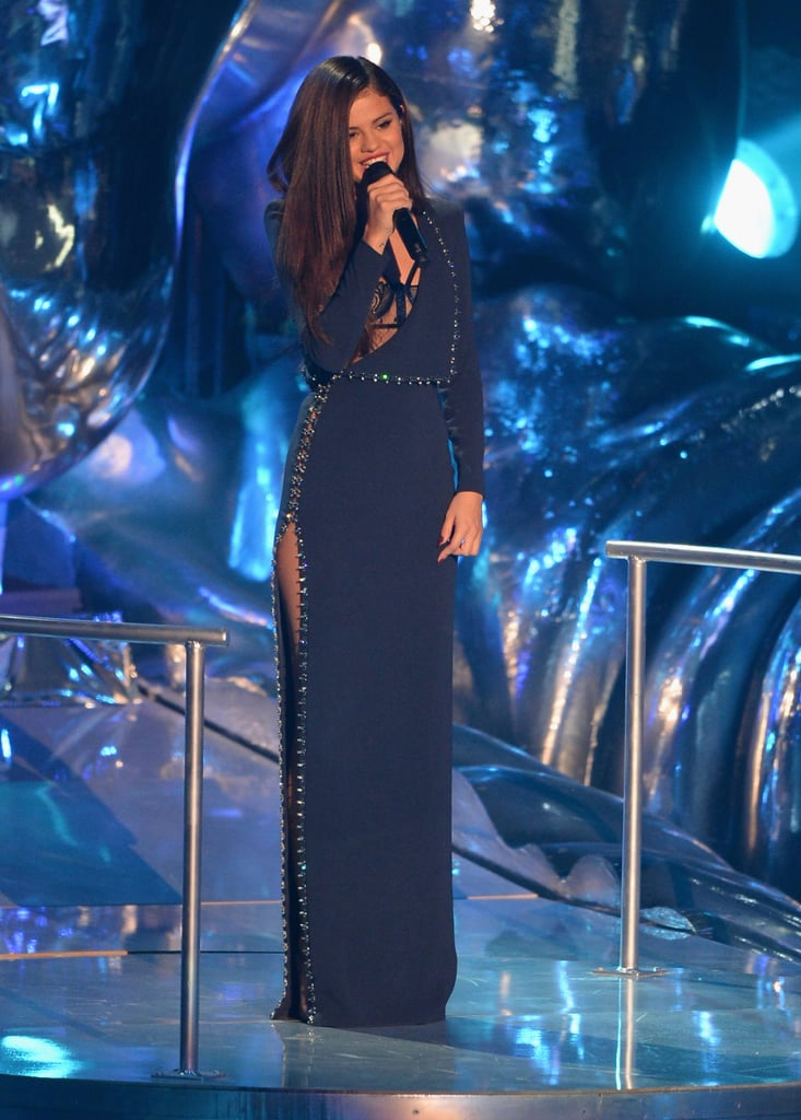 Selena Gomez presented an award at the VMAs.