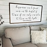 Happiness Can Be Found Dumbledore Quote Large Wood Framed Sign ($65-$135)