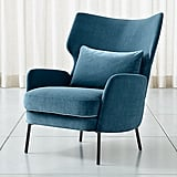 Celeste: Alex Navy Blue Velvet Accent Chair