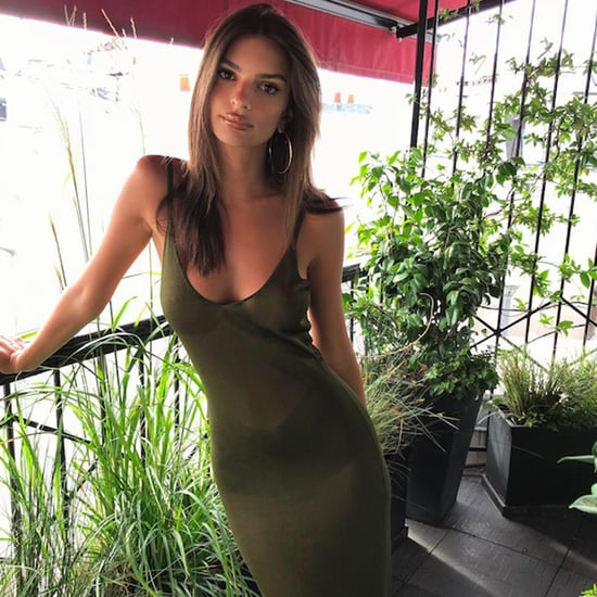 Emily Ratajkowski's Sheer Green Dress August 2018
