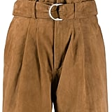 P.a.r.o.s.h. Suede Paperbag Waist Shorts