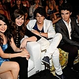The Jonas Brothers With Selena Gomez and Demi Lovato at the Teen Choice Awards in 2008