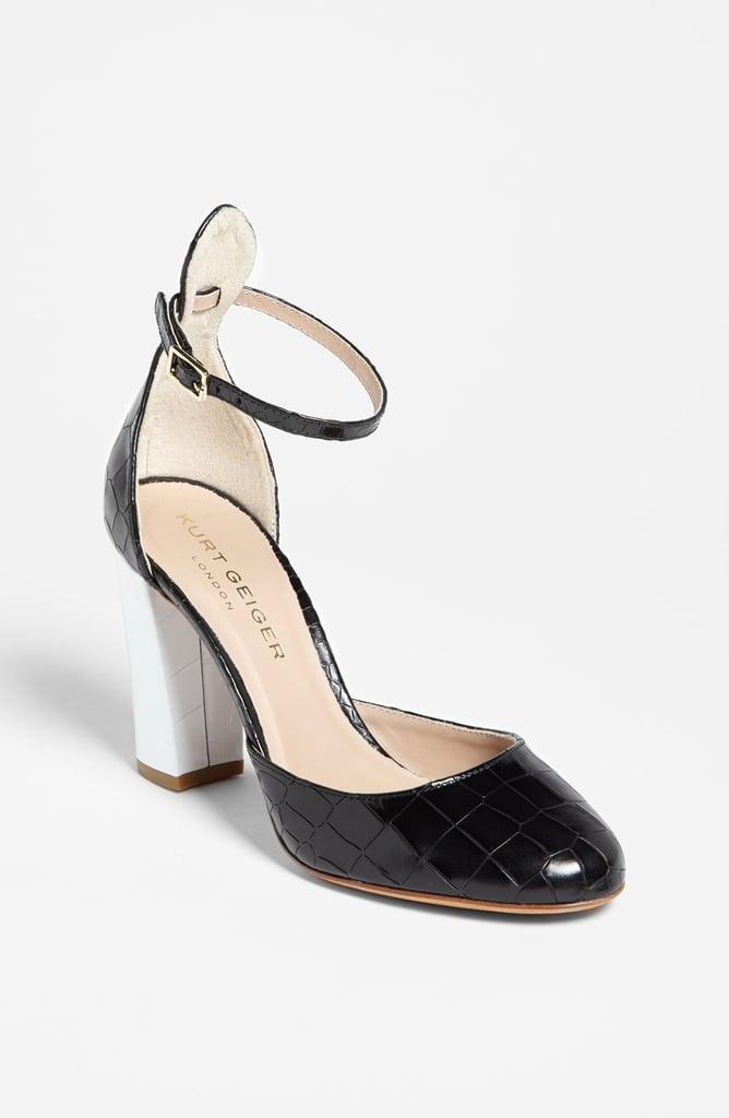 Kurt Geiger is celebrating its 50th anniversary this year, but the brand looks as fresh as ever when you consider these Ella pumps ($300). The black and white is on trend (also my personal favorite color scheme), while the ankle strap and the block heel mean that I can walk all day long and still feel ready to dance come nighttime. — MLG