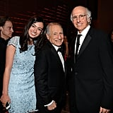 Larry David also brought his daughter Cazzie David as his date to the event, where they met up with Mel Brooks.