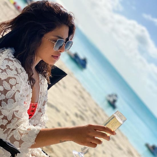 Priyanka Chopra Relaxing in an Orange Bikini
