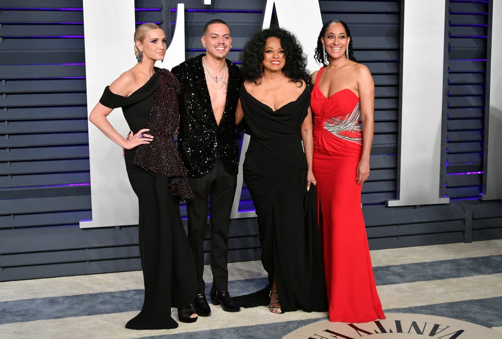 The Oscars may be over, but the party is just getting started! On Sunday, Diana Ross and her beautiful family stepped out together at Vanity Fair's annual bash. The 74-year-old icon was joined by 46-year-old daughter Tracee and 30-year-old son Evan, who brought his 34-year-old wife Ashlee Simpson. The brood was dressed to the nines and appeared to have the best time as they exchanged hugs and kisses on the red carpet. Between this and their last appearance at the Grammys, it's clear the Ross family is as tight as can be.       Related:                                                                                                           The 3 Men Diana Ross Has Opened Her Heart to Over the Years