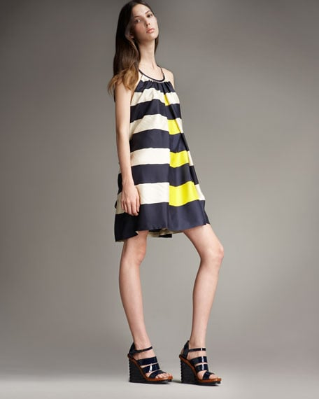The loose silhouette and yellow pop makes this an instant Summer hit.  MARC by Marc Jacobs Bella Striped Trapeze Dress ($498)