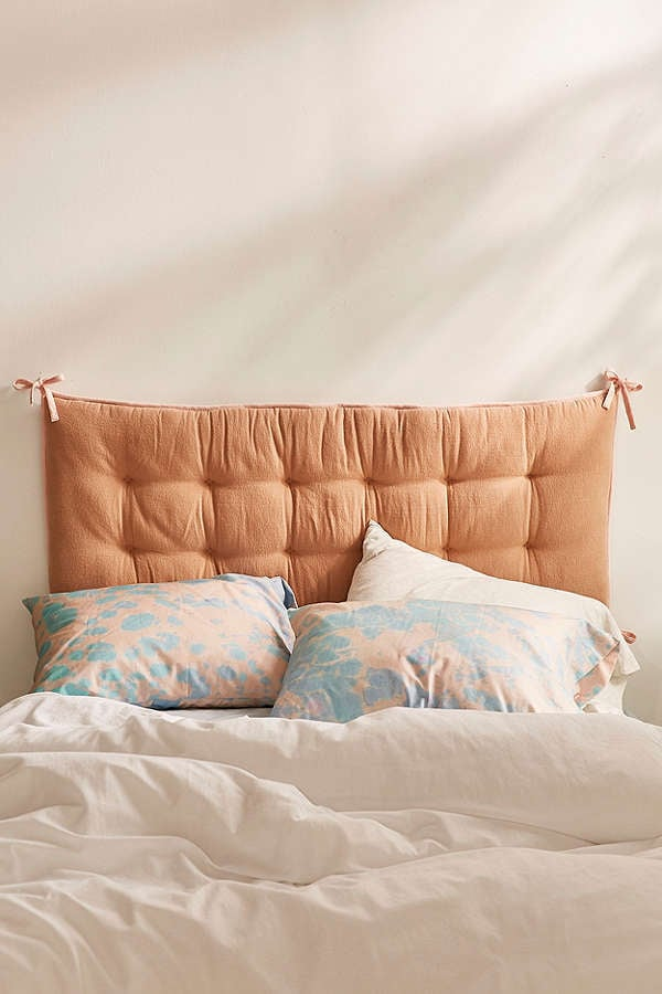 Urban outfitters convertible flannel headboard pillow for Headboard made pillows