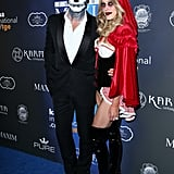 Maksim Chmerkovskiy and Peta Murgatroyd as a Skeleton and Little Red Riding Hood