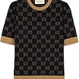 Gucci Metallic Intarsia Cotton-Blend Sweater
