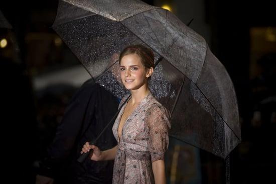 Emma Watson Umbrella Raining