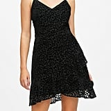 Petite Leopard Velvet Mini Dress