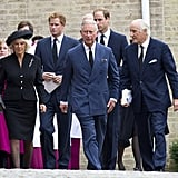 Prince Harry, Prince William, Prince Charles, and Camilla, Duchess of Cornwall, attended a requiem mass for Hugh van Cutsem.