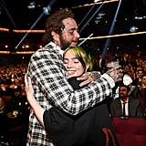 Post Malone and Billie Eilish at the 2019 American Music Awards