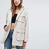 Missguided Pocket Detail Utility Jacket