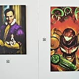 Game-inspired artwork graced the walls.