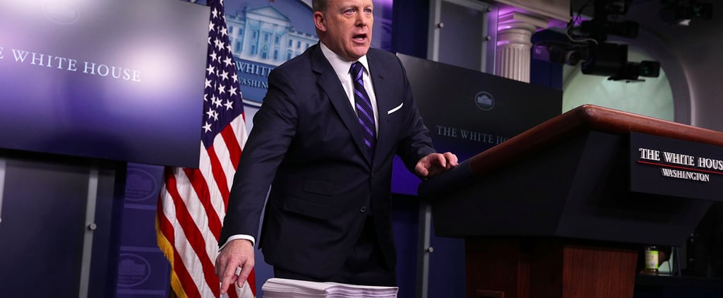 Sean Spicer Used a Stack of Papers to Make a Statement but Gave the Internet a Meme Instead