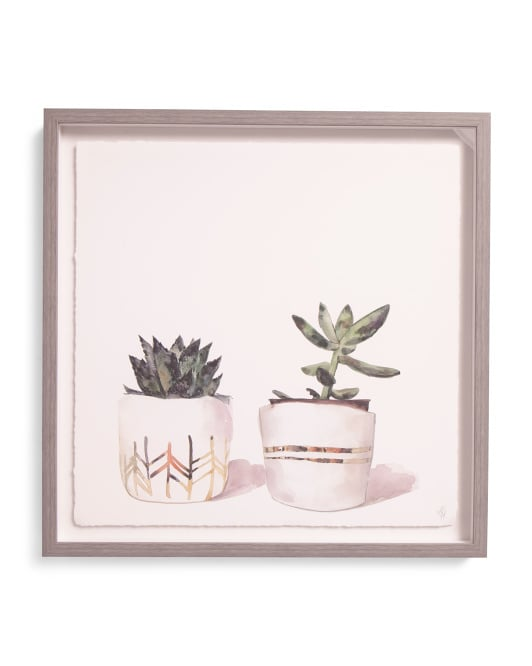 Global Succulent Print Framed Wall Art