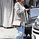 Selena Gomez Wearing Cuffed Jeans
