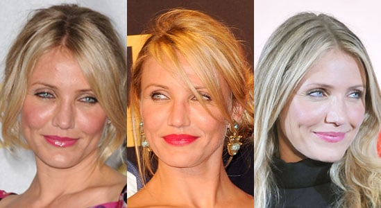 Pictures of Cameron Diaz Wearing Different Shades of Pink Lipstick