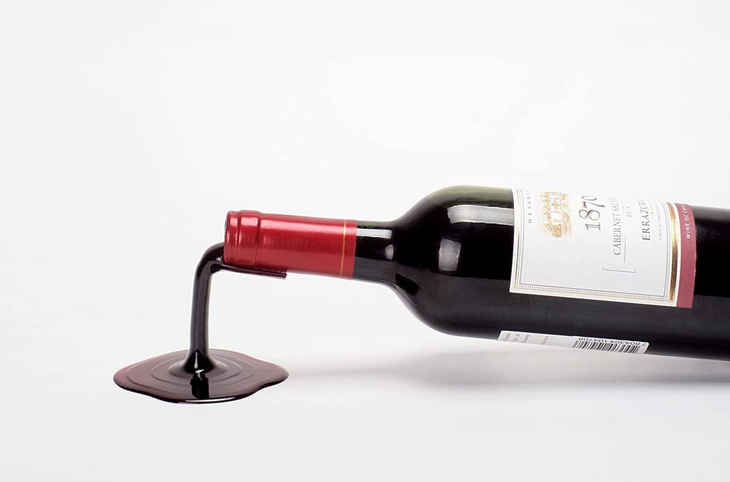 Playable Art Spilled Wine Bottle Holder