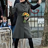 Kate Middleton in Caernarfon, Wales in 2015