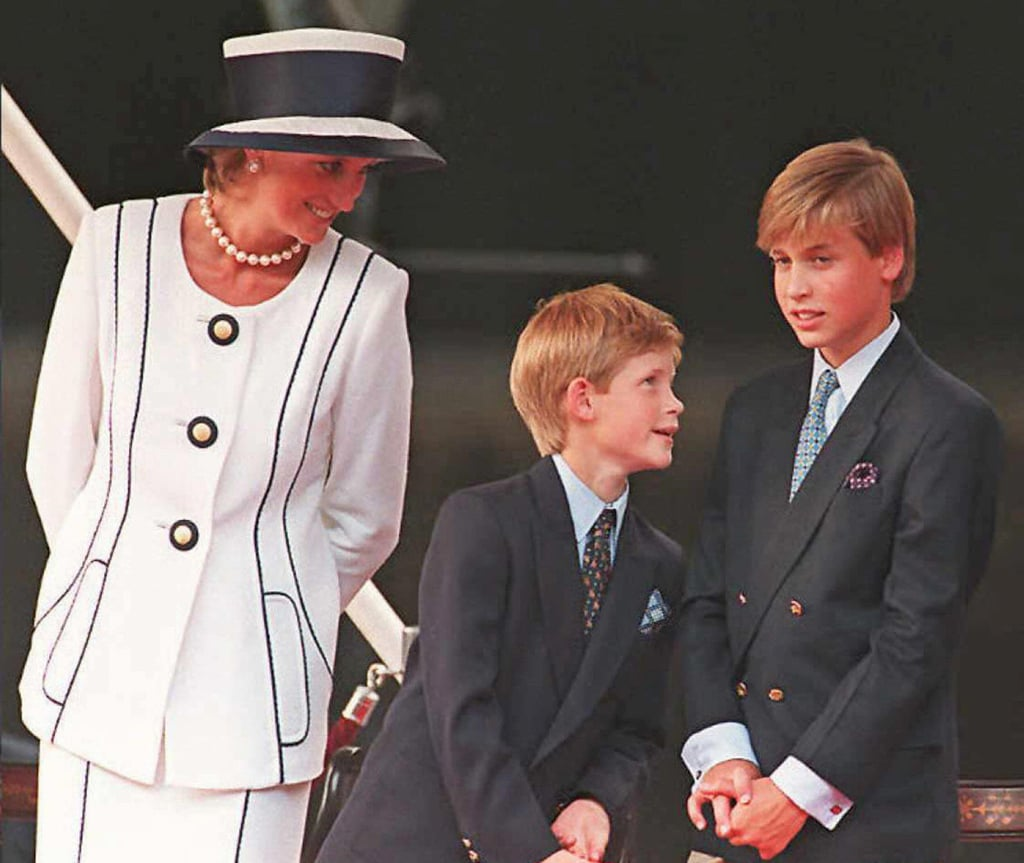 Princess Diana smiled at Prince Harry and Prince William at an August 1995 event in London.