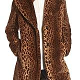 Kensie Faux Fur Leopard-Print Coat