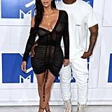 Kim Kardashian and Kanye West at the MTV VMAs in 2016
