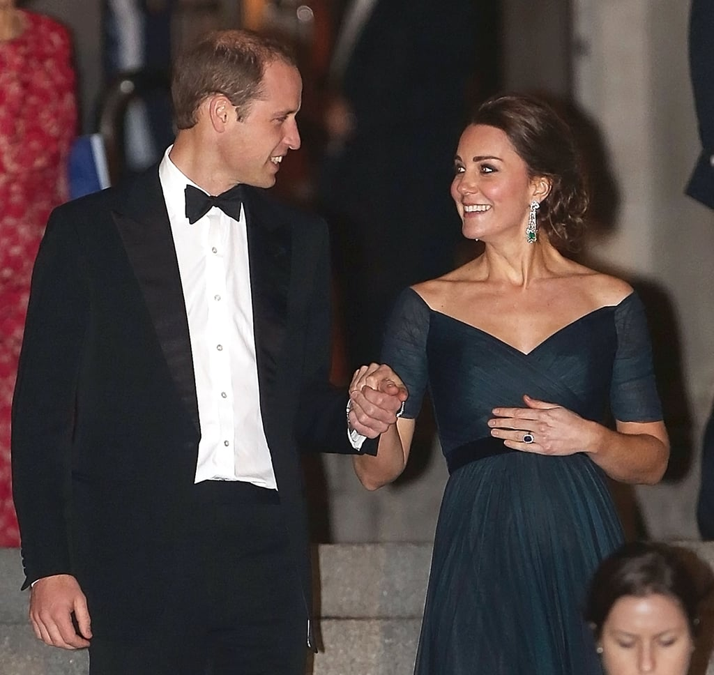 Will and Kate were all smiles at a December 2014 dinner in NYC.