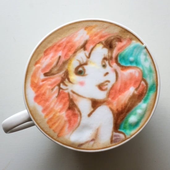 Little Mermaid Latte Art