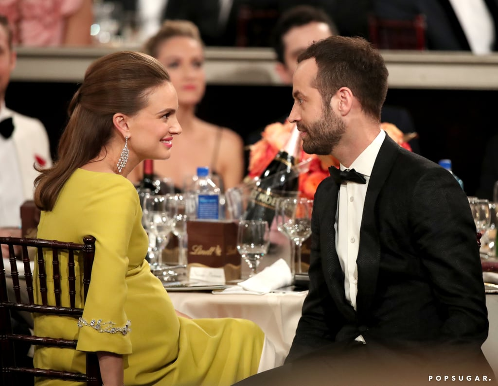 Natalie Portman shared a loving glance with her husband, Benjamin Millepied.