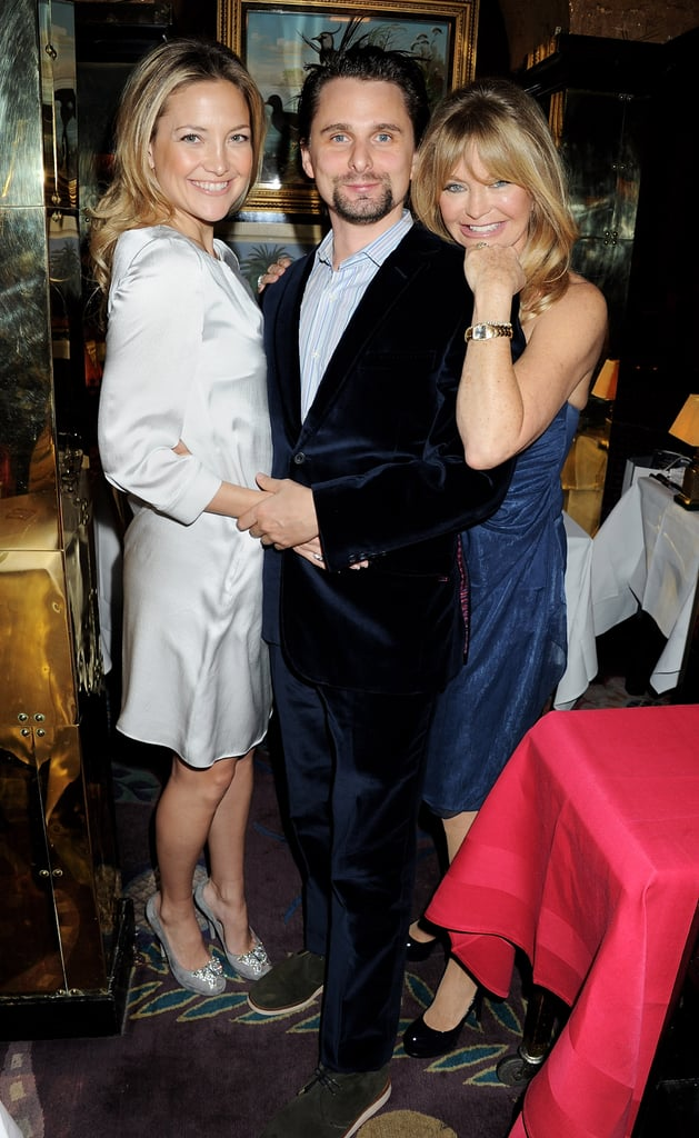Goldie Hawn had the love and support of her family tonight, including daughter Kate Hudson and soon-to-be son-in-law Matthew Bellamy, at the London launch of her namesake Hawn Foundation. Kate and Matthew are back in the UK following a glamorous appearance at this year's Vanity Fair Oscar bash. Kate caught up with pals Gwyneth Paltrow and Cameron Diaz when she wasn't snuggled up to Matthew in the dimly lit corners of the dance floor. During their stay in North America, Kate and Matthew also visited Mexico for a few days, where she worked on her tan in a sexy bikini.  The pair have been splitting their time between the West Coast and the UK, but for now they're back in Matthew's hometown while Muse continues recording their sixth album. They've been tweeting updates and sharing photos from their latest studio sessions.