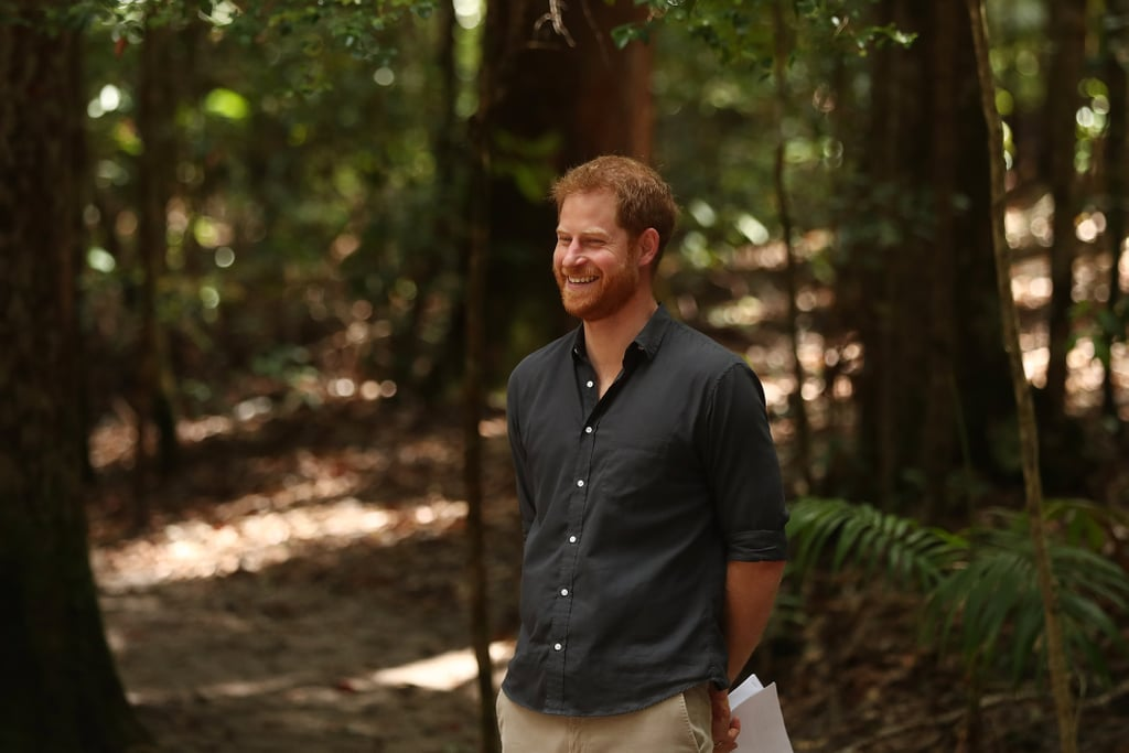 "Prince Harry has been making us swoon pretty much every day of his royal tour in Australia with Meghan Markle, and — spoiler alert! — he's far from being done. A few days after looking like a real-life Prince Charming at the ANZAC memorial in Sydney, the Duke of Sussex had quite the funny encounter with a fan during his visit to Fraser Island.  Harry was preparing to give a speech regarding the dedication of the Forests of K'gari when one especially bold woman in the crowd couldn't help but blurt out, ""You're better-looking in person."" Ha ha! Harry immediately took notice and broke out into the biggest grin, which grew even wider when another person in the crowd chimed in, ""I second that!"" The British royal sheepishly blushed and looked down, replying, ""I'll take that as a compliment."" Aww! We stan a humble prince.      Related:                                                                                                           So Cute! Prince Harry Can't Help but Dance When Fans Serenade Him With His Wedding Song"