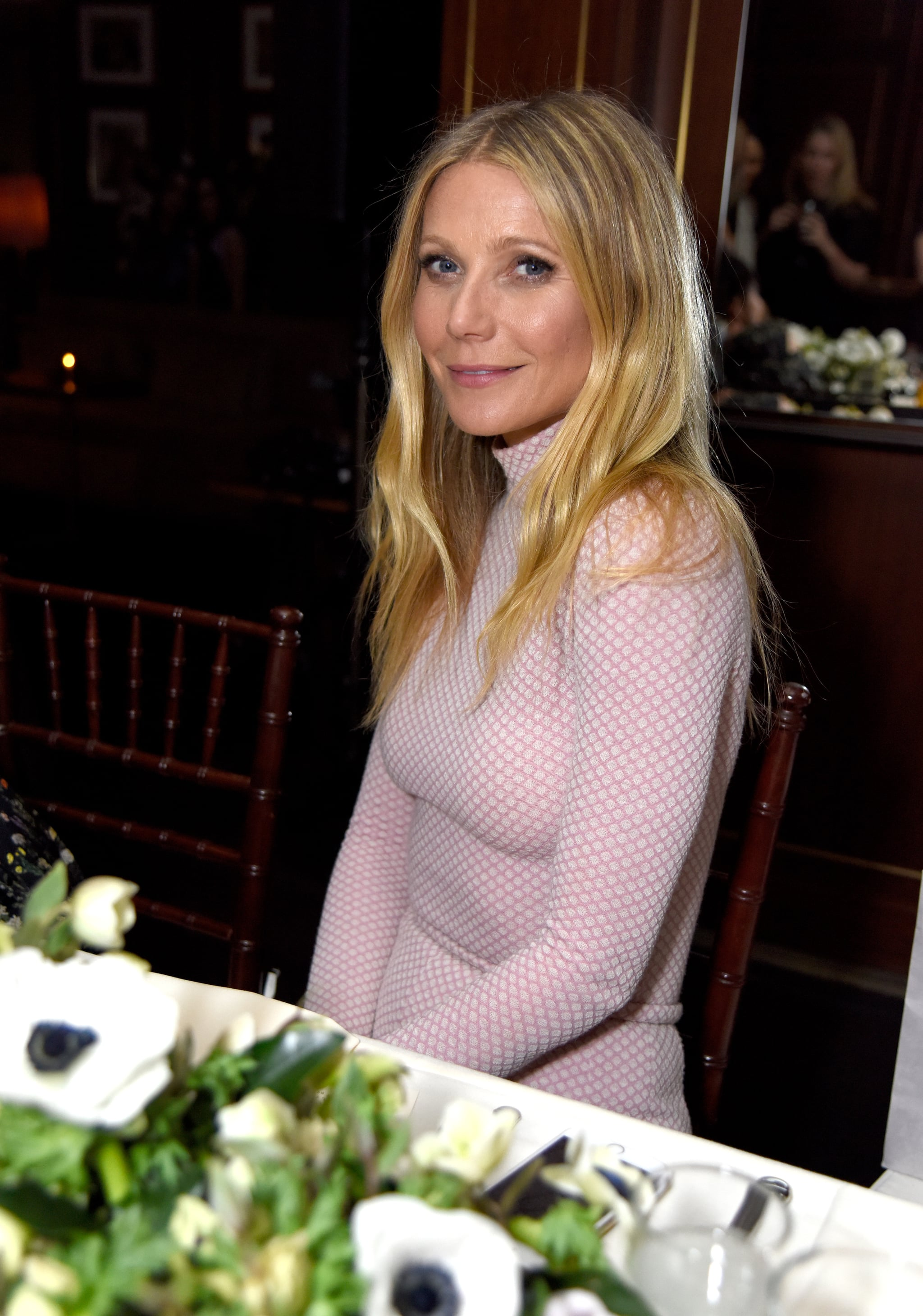 LOS ANGELES, CALIFORNIA - MARCH 15: Actress Gwyneth Paltrow attends The Hollywood Reporter and Jimmy Choo's Power Stylists Dinner at Sunset Tower on March 15, 2016 in Los Angeles, California.  (Photo by Jeff Vespa/Getty Images for The Hollywood Reporter)