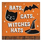 "Creative Converting ""Bats, Cats, Witches Hats"" Beverage Napkins"