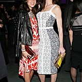 Leandra Medine and Hilary Rhoda