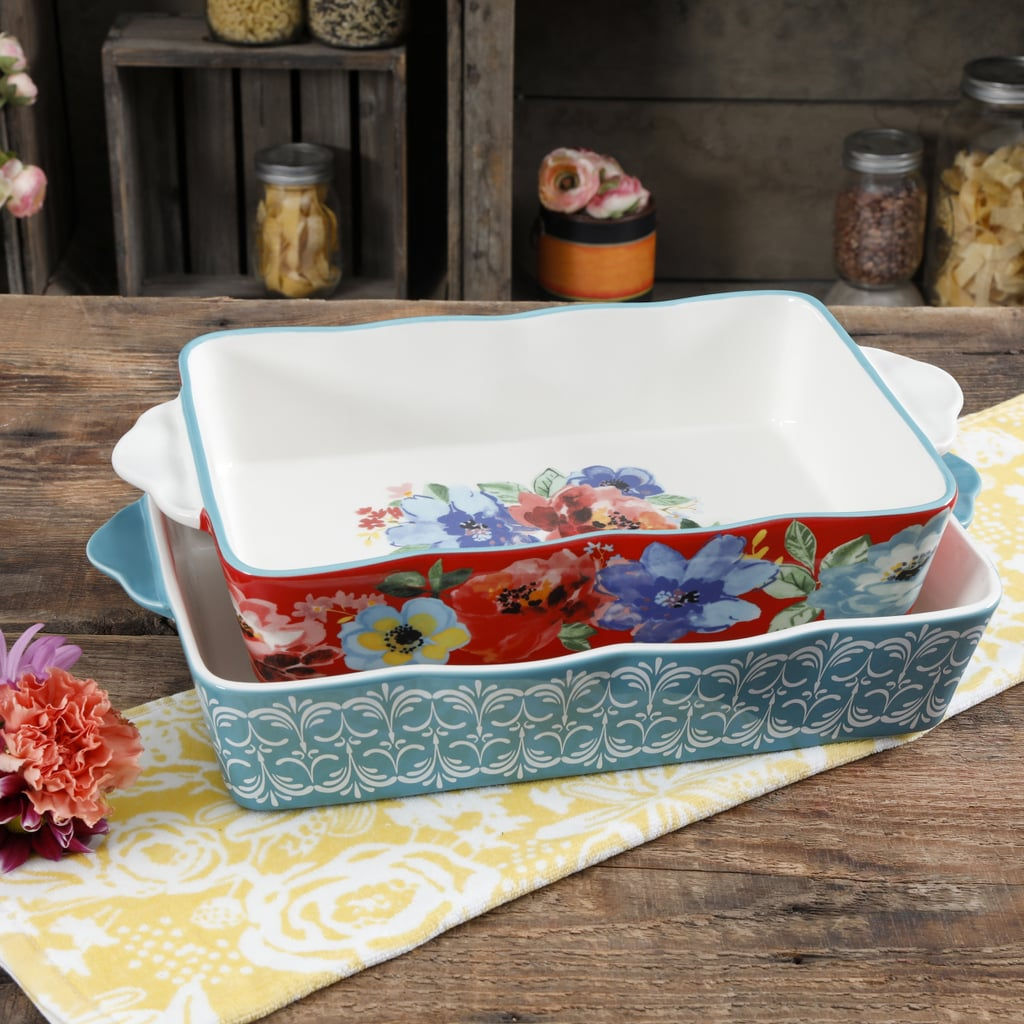 The Pioneer Woman Spring Bouquet Two-Piece Baker Set