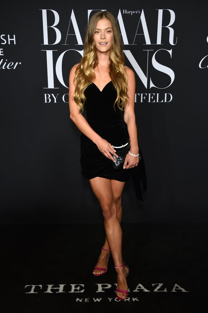 Nina Agdal at the Harper's Bazaar ICONS Party During New York Fashion Week