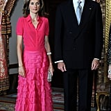 At a dinner for the King of Saudi Arabia in Madrid in July 2008.