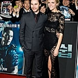 Brooklyn Decker and Taylor Kitsch premiered Battleship in Seoul.