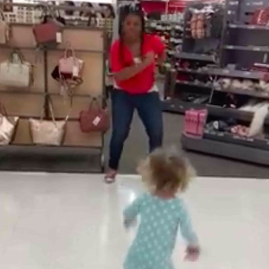 Little Girl and Target Employee Dance Party