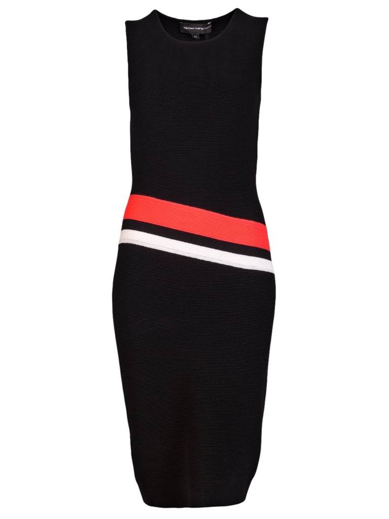 The slight diagonal lines will help elongate the body. Narciso Rodriguez Tank Dress ($995)