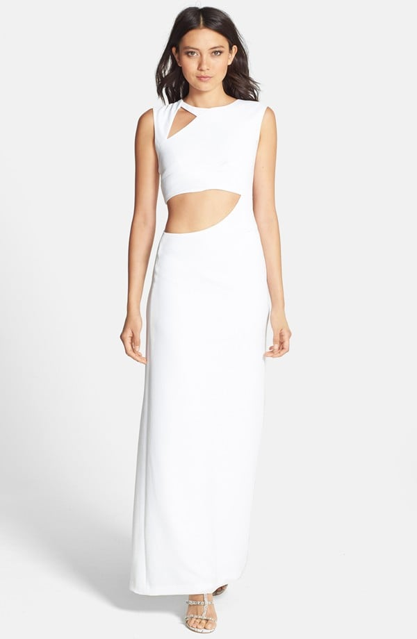 BCBGMAXAZRIA White Cutout Dress