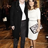 Salma Hayek and François-Henri Pinault posed in Paris.