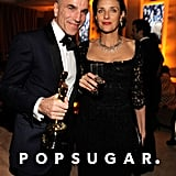 Daniel Day Lewis and Rebecca Miller made their way into the Vanity Fair afterparty in LA.