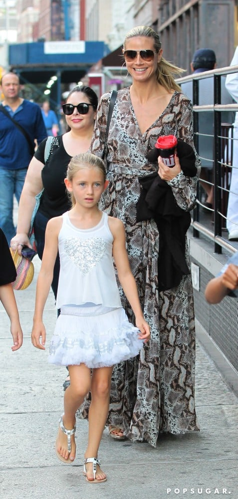 Heidi Klum stepped out in NYC with her daughter Leni Samuel.