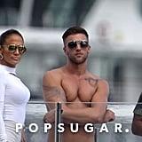 Jennifer Lopez Filming With Shirtless Men in Miami