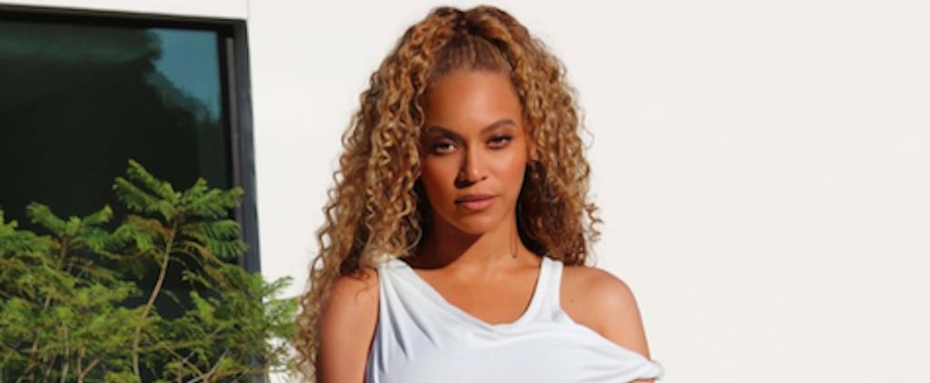 Beyoncé White Minidress at Basketball Game